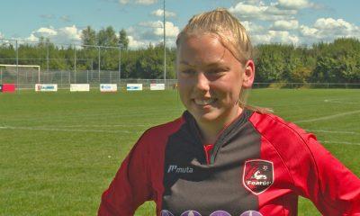 Ellen Fokkema, la primera futbolista en integrar un equipo masculino. Foto: Omrop Fryslân.