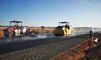 Obras viales en Arroyos y Esteros. Foto: Gentileza