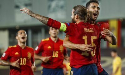 Con la victoria, el seleccionado español se coloca como líder del Grupo A4. Foto: @SeFutbol.
