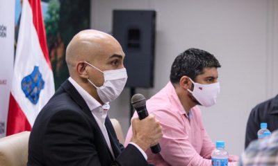 Tema dengue y Covid.19, fueron tratados el jueves en la Municipalidad de Asunción. Foto: Ministerio de Salud.