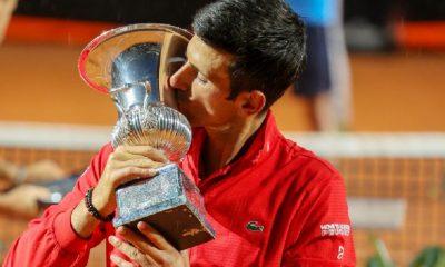 Djokovic consiguió su quinto Masters 1000 de Roma y se convirtió en el máximo ganador de torneos de esta categoría. Foto: internazionalibnlditalia.com.