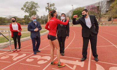 El atletismo paraguayo es uno de los primeros de la región en regresar a los entrenamientos. Foto: Gentileza.