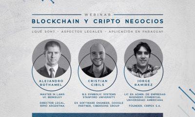 """La Sociedad de Derecho y Economía de la Católica organiza el webinar """"Blockchain y Cripto Negocios"""". Foto: Gentileza."""