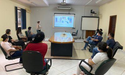 Profesionales se capacitan en bioseguridad. Foto: Itaipu Binacional