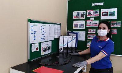 Elisa es trabajadora ejemplar de Fujikura Automotive Paraguay. Foto: Ministerio de Justicia