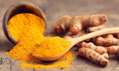 La cúrcuma procedente de la India, cuya raíz se parece al jengibre, huele como él y es algo amarga.