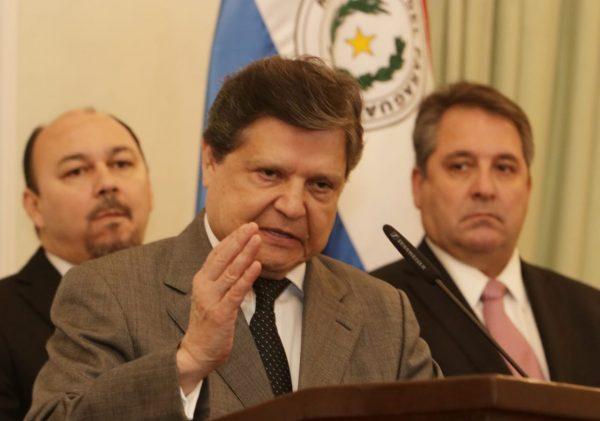 Euclides Acevedo, ministro del Interior. Foto: IP