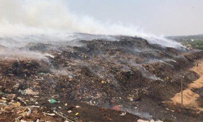 El segundo incendio en Cateura en pocos días. Foto: Fiscalía.
