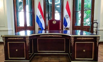 Silla presidencial en Palacio de López. Foto Secretaria de Cultura