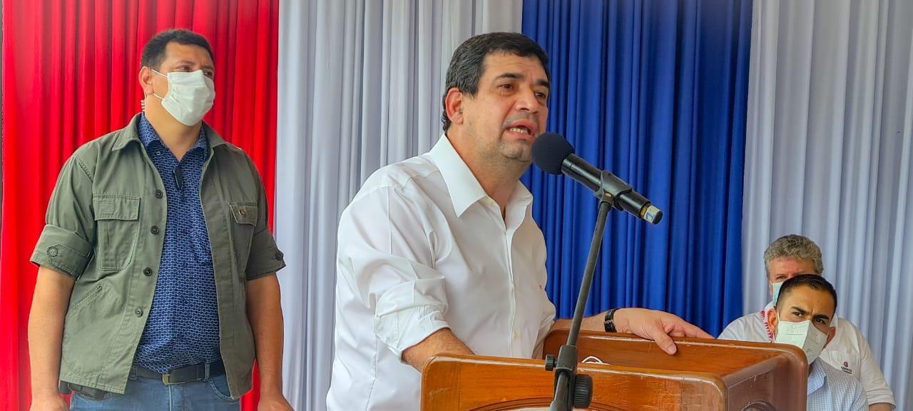 El vicepresidente de la República, Hugo Velázquez, cumplió este viernes con la agenda. Foto: IP