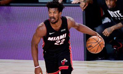 Jimmy Butler fue la gran figura en la victoria de Miami Heat, contribuyendo con un total de 40 anotaciones, 13 asistencias y 11 rebotes. Foto: @NBA.