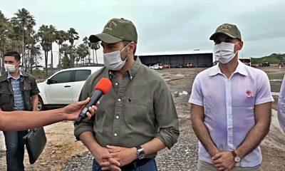 el presidente de la República verificó obras en el Chaco. Foto: ParaguayTV