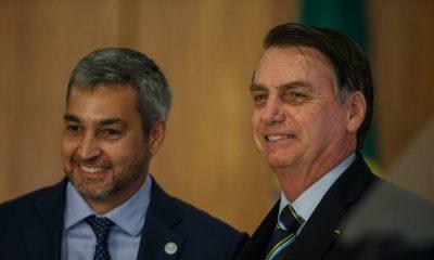Jair Bolsonaro y Mario Abdo Benítez. Foto: oglobo.com