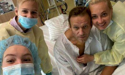 Alexei Navalny con su familia. Foto: Archivo
