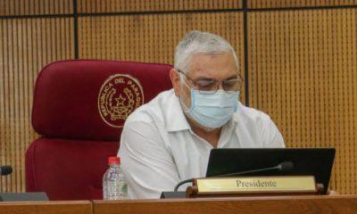 El expresidente Fernando Lugo en la sesión del Senado del jueves. Foto: Captura de pantalla.