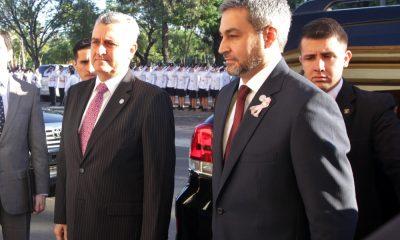 Mario Abdo presidente y su asesor Juan Ernesto Villamayor