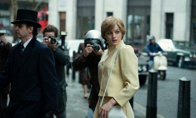 Emma Corrin como Lady Di en la cuarta temporada de The Crown