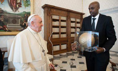 Los jugadores llegaron al Vaticano especialmente para la reunión con el Papa. Foto: Télam