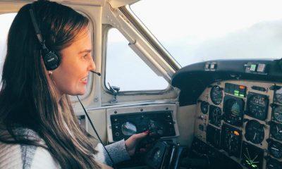 Ana Paula, la piloto paraguaya cuya historia se conoció a través de redes sociales. Foto: Gentileza.