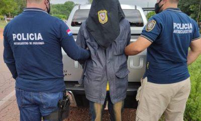 Extorsionador detenido por la Policia Nacional. Foto Gentileza