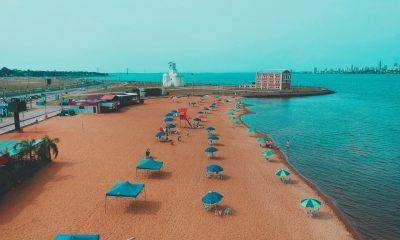 """El sistema de """"burbujas sociales"""" dispuesto para las playas encarnacenas. Foto: Gentileza"""