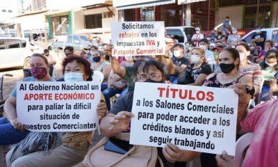 Comerciantes encarnacenos redoblaron sus reclamos al gobierno por crisis económica. Foto: Gentileza