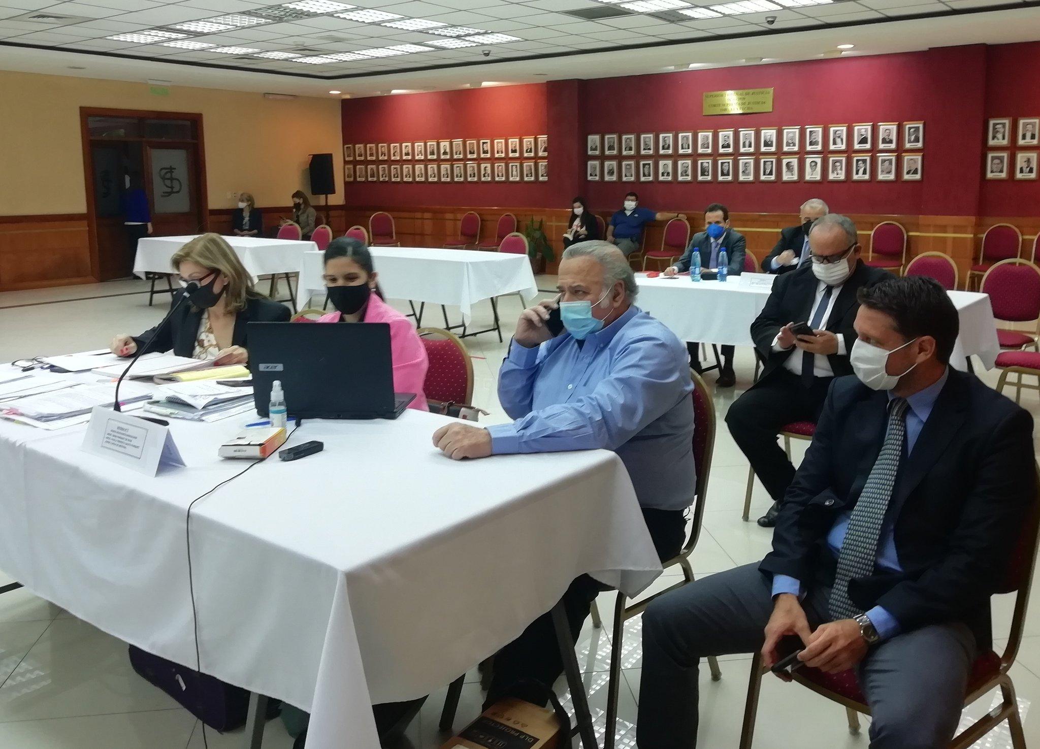 Oscar González Daher enfrenta al tribunal que lo juzga por el caso de los audios filtrados. Foto: gentileza
