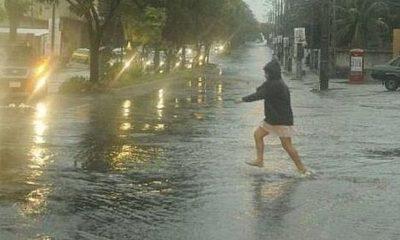 La lluvia inició temprano. Foto: Agencia IP