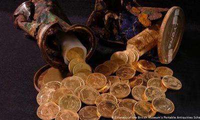 Este tesoro de oro de Krugerrand fue cuidadosamente escondido, pero ¿por quién?. Foto: Dw
