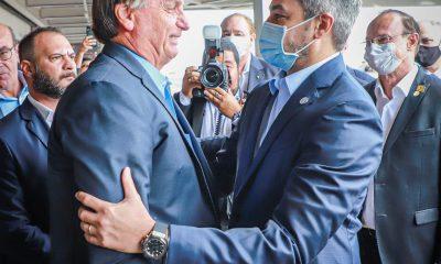 Jair Bolsonaro y Mario Abdo. Foto Presidencia.