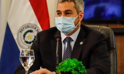 El presidente Mario Abdo Benítez dispuso nuevas medidas sanitarias para las fiestas de fin de año. Foto: Presidencia