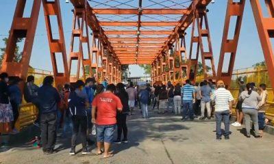 Vecinos y comerciantes fronterizos de Puerto Falcón se movilizaron hace pocas semanas en el puente internacional pidiendo su reapertura. Foto: Archivo