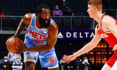 El Big Three Nets comandó la tercera victoria seguida con Kevin Durant como máximo exponente con 32 puntos y 50% en tiros de campo. Foto: nba.com.