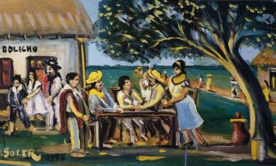 """Ignacio Núñez Soler, """"Día domingo, descanso de trabajadores"""", 1978. Colección privada"""