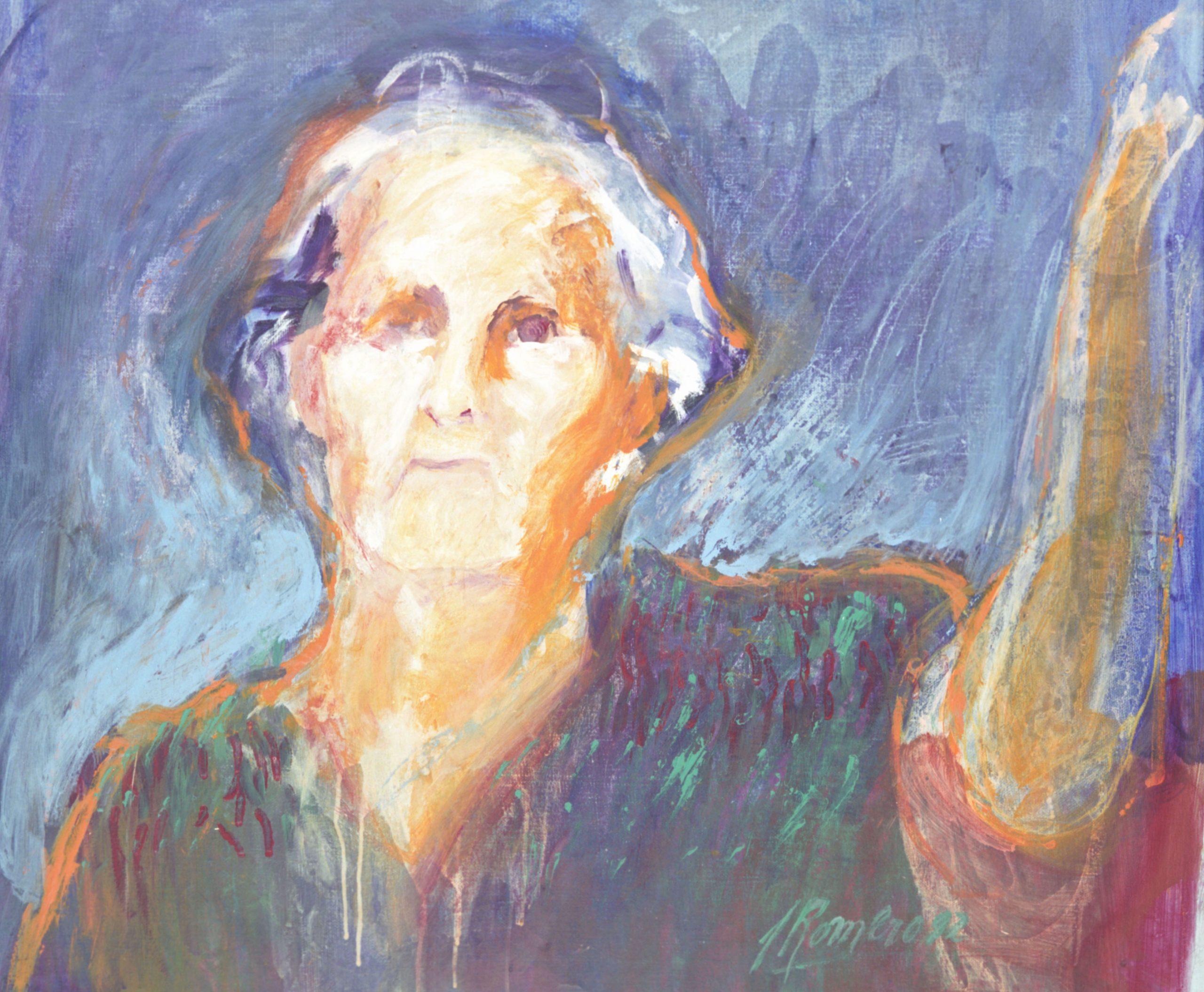 Josefina Plá, retratada por Susana Romero (detalle). Colección CAV/Museo del Barro (Gentileza CCEJS)