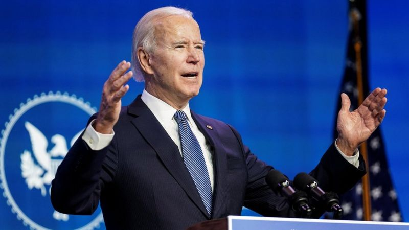Joe Biden, presidente de los Estados Unidos. Foto: BBC News.