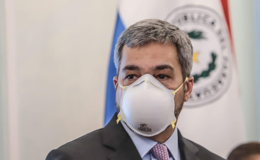 Mario Abdo Benítez dio negativo al test de Covid-19. Foto: IP