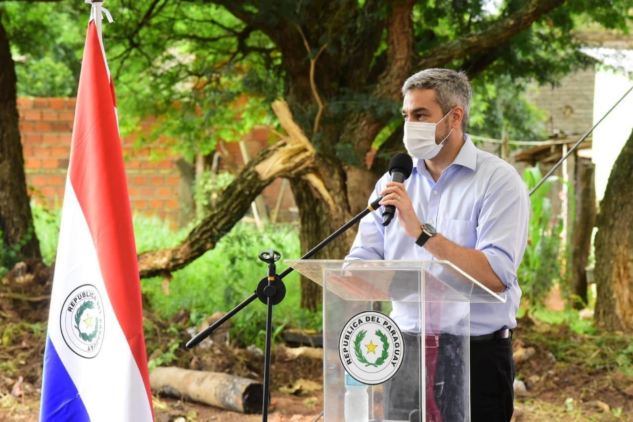 El presidente de la República, Mario Abdo Benítez. Foto: Gentileza.