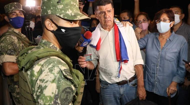 Efraín Alegre se encuentra desde el jueves por la noche recluido en la Agrupación Especializada de la Policía Nacional. Foto: Archivo