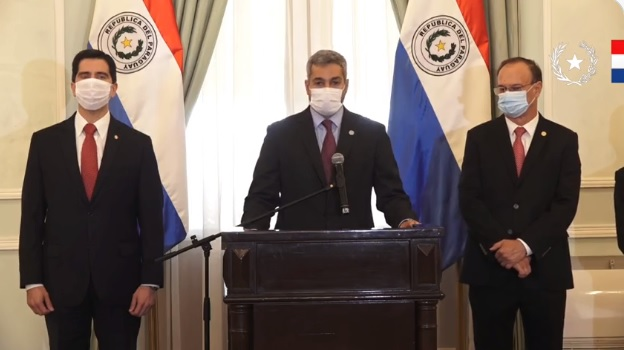 El presidente Mario Abdo Benítez. Foto: Presidencia