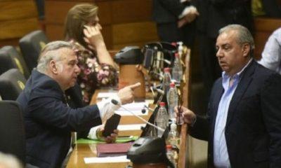 Oscar González Daher y Jorge Oviedo Matto, dos de los políticos implicados en caso audios filtrados del JEM. Foto: Archivo