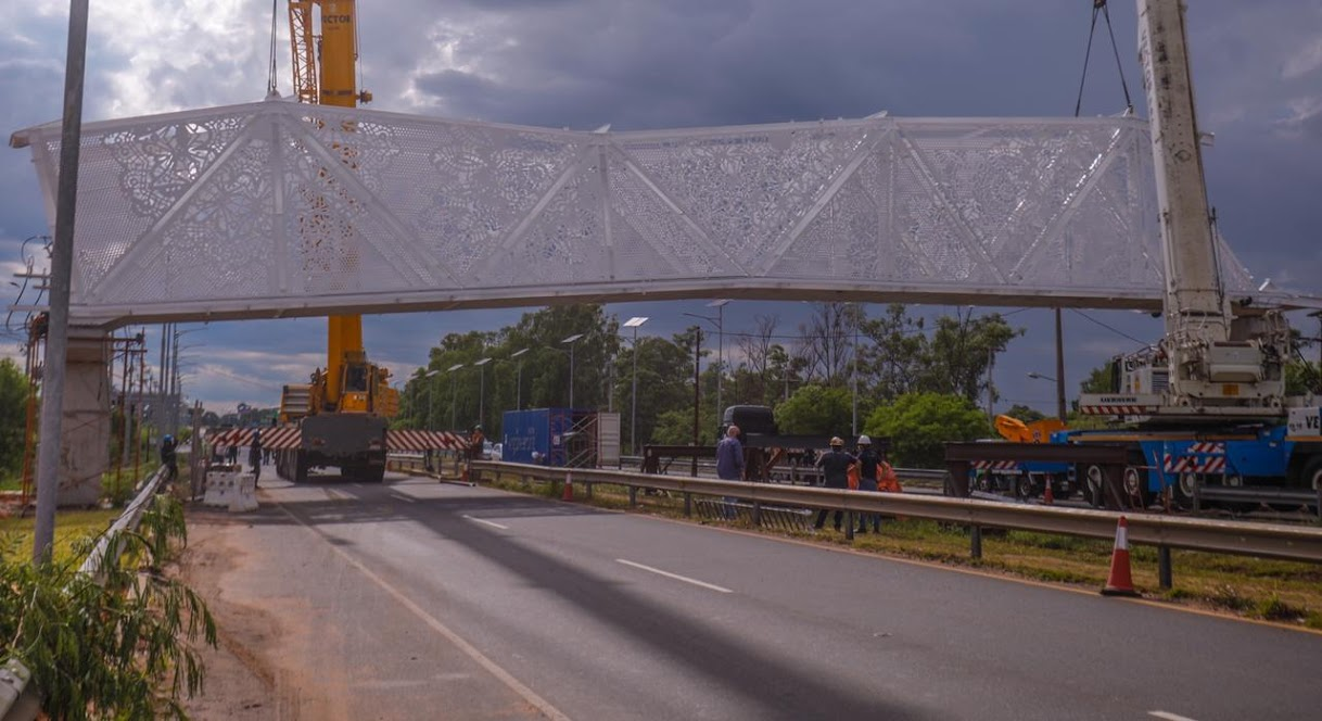 La pasarela cultural de Ñu Guasú en el centro de las críticas por alto costo de la estructura. Foto: MOPC