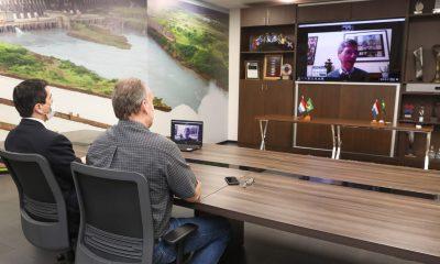 La reunión virtual se llevó a cabo éste miércoles. Foto: Gentileza.