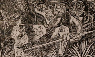 """Fidel Fernández, """"Los mutilados de la Guerra Guasu"""", 2020 (detalle), obra seleccionada en Premio Saturio Ríos, de la SNC"""
