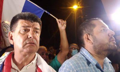 Efraín Alegre a su llegada el jueves pasado a la Agrupación Especializada, donde está recluido. Foto: Archivo
