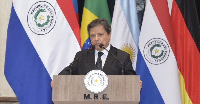 Euclides Acevedo, ministro de Relaciones Exteriores. Foto: Cancillería.