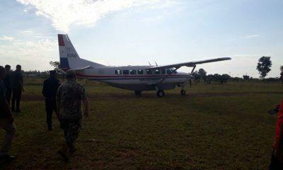 El avión de la Fuerza Aérea Paraguaya que el vicepresidente Hugo Velázquez usa para hacer proselitismo. Foto: Twitter