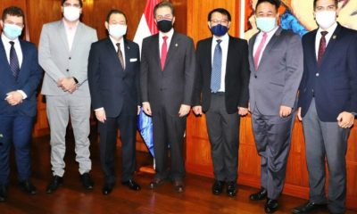 Empresarios taiwaneses se reunieron con el titular de Industria y Comercio, Luis Castiglioni. Foto: Gentileza.