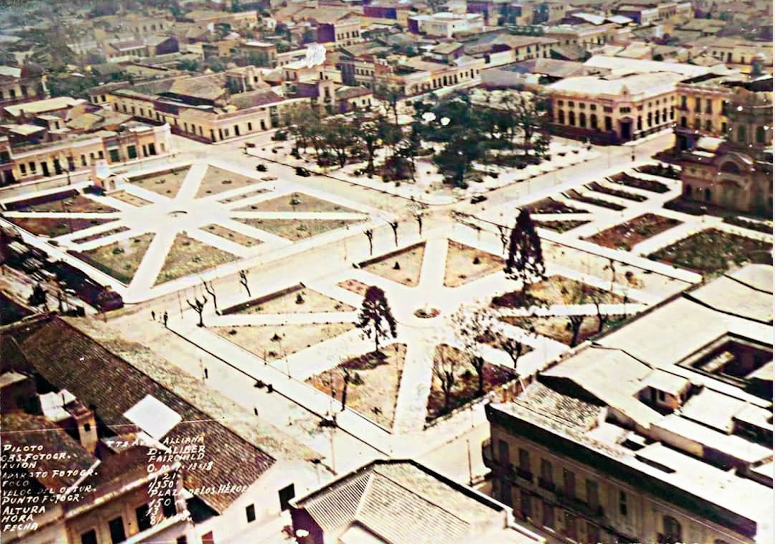 Plazas del microcentro, década de 1940