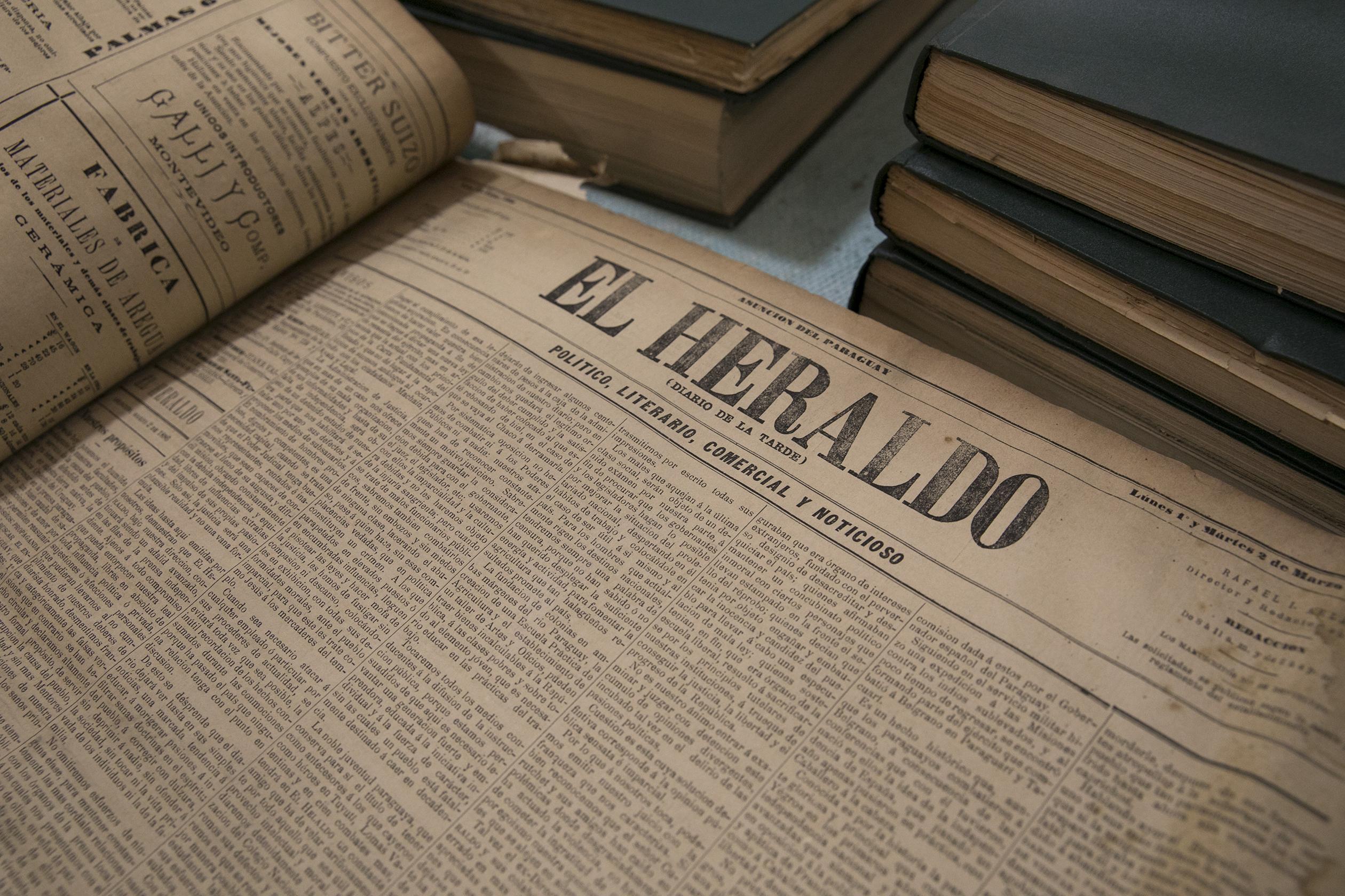 El Heraldo, aparecido en 1884 y clausurado en 1886, director Héctor Decoud. Academia Paraguaya de la Historia © Laura Mandelik